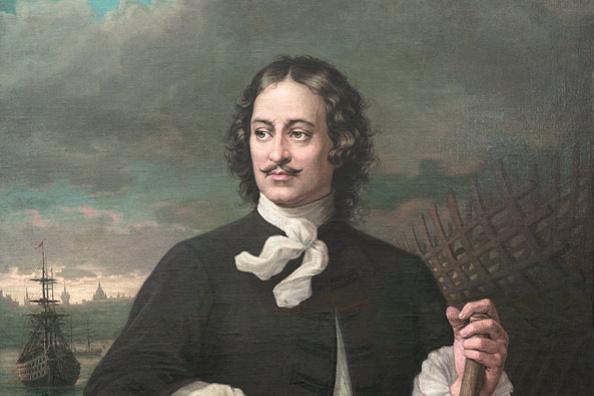 Август Толяндер. Портрет Петра I. 1874