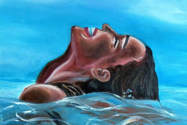 Hope Raduntseva. Fille en mer
