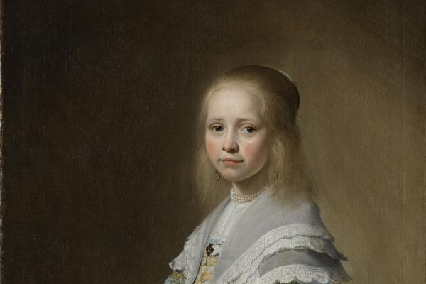 Ян Корнелис Верспронк. Портрет девочки в голубом платье