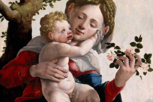 Ян ван Скорел. Мадонна с дикими розами