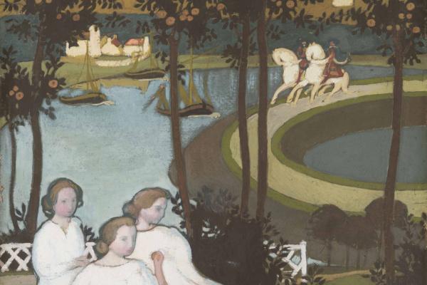 Maurice Denis. Légende de chevalerie ou Trois jeunes princesses (Première version à la gouache)