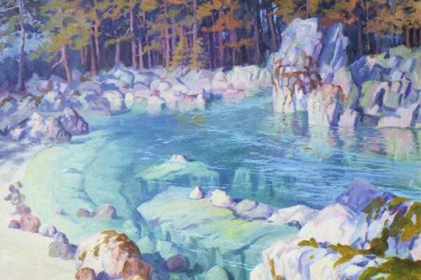 Eugene Buchne. Morning at blue lake