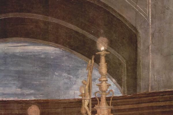 """Рафаэль Санти. Станца д'Элиодоро. Фреска """"Месса в Больсене"""". Фрагмент"""