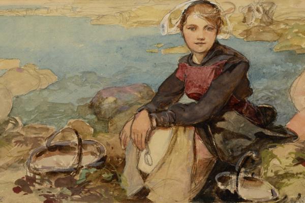 Alphonse Mucha. On Shore