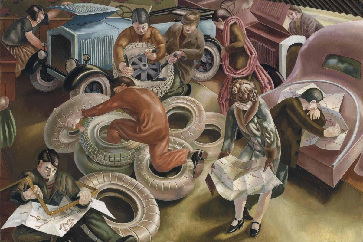 Картина Стэнли Спенсера«Гараж» (1929) входила в коллекцию Эндрю Ллойда Уэббера до 2010 года, затем
