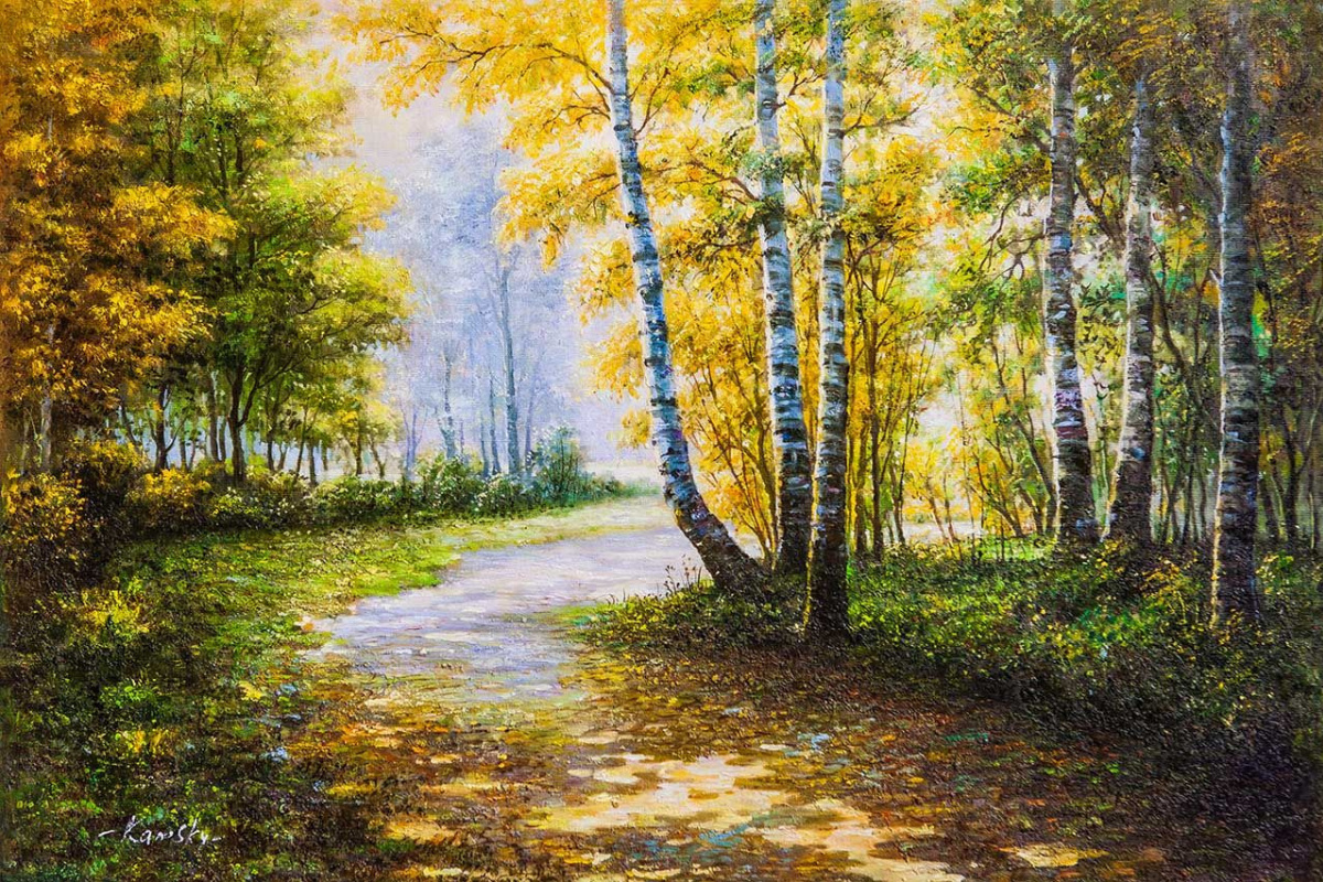 Savely Kamsky. Autumn walked along the paths of the park