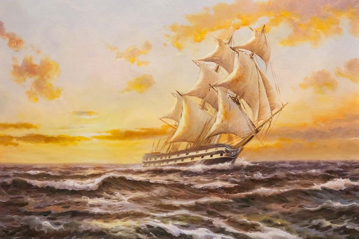 Daria Feliksovna Lagno. Sailboat. Meeting the dawn