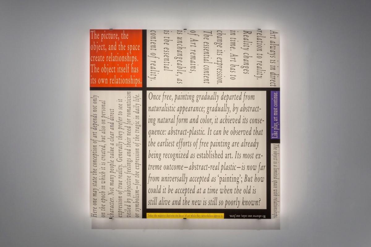 Joseph Kosuth. Mondrian's Work XII