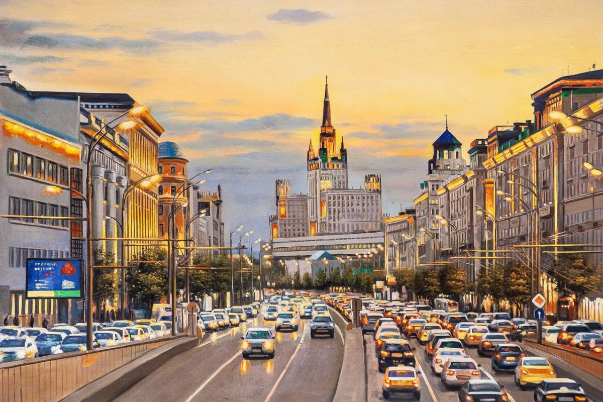 Savely Kamsky. Lights of evening Moscow