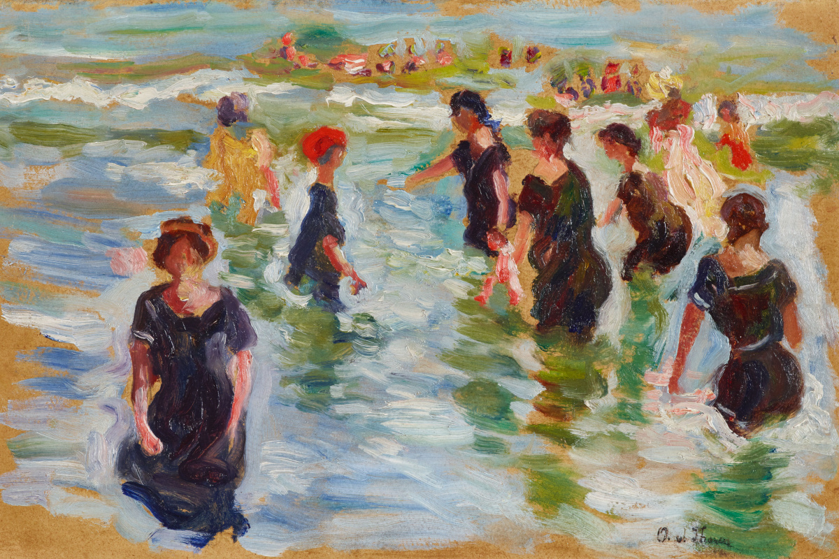Otto von Toren. Sketch for Beach near Trouville