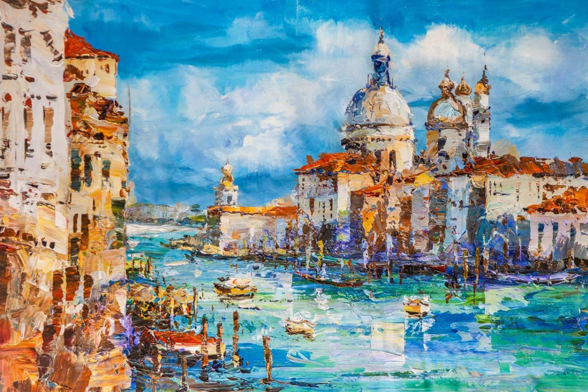 Jose Rodriguez. View of the Grand Canal. Bright noon