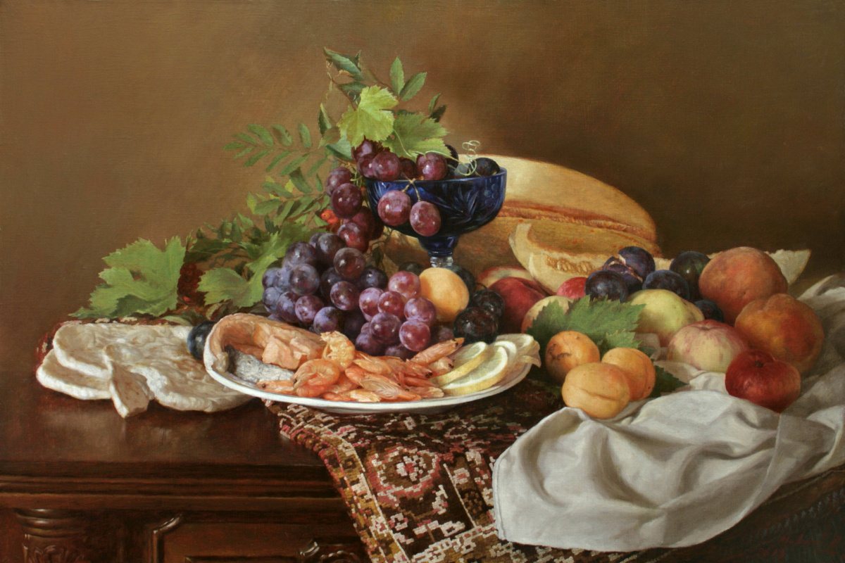 Andrey Nikolaevich Mironov. Натюрморт с креветками