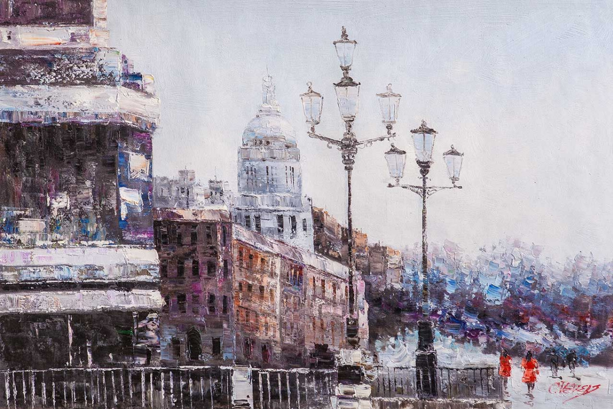 (no name). Winter Saint Petersburg