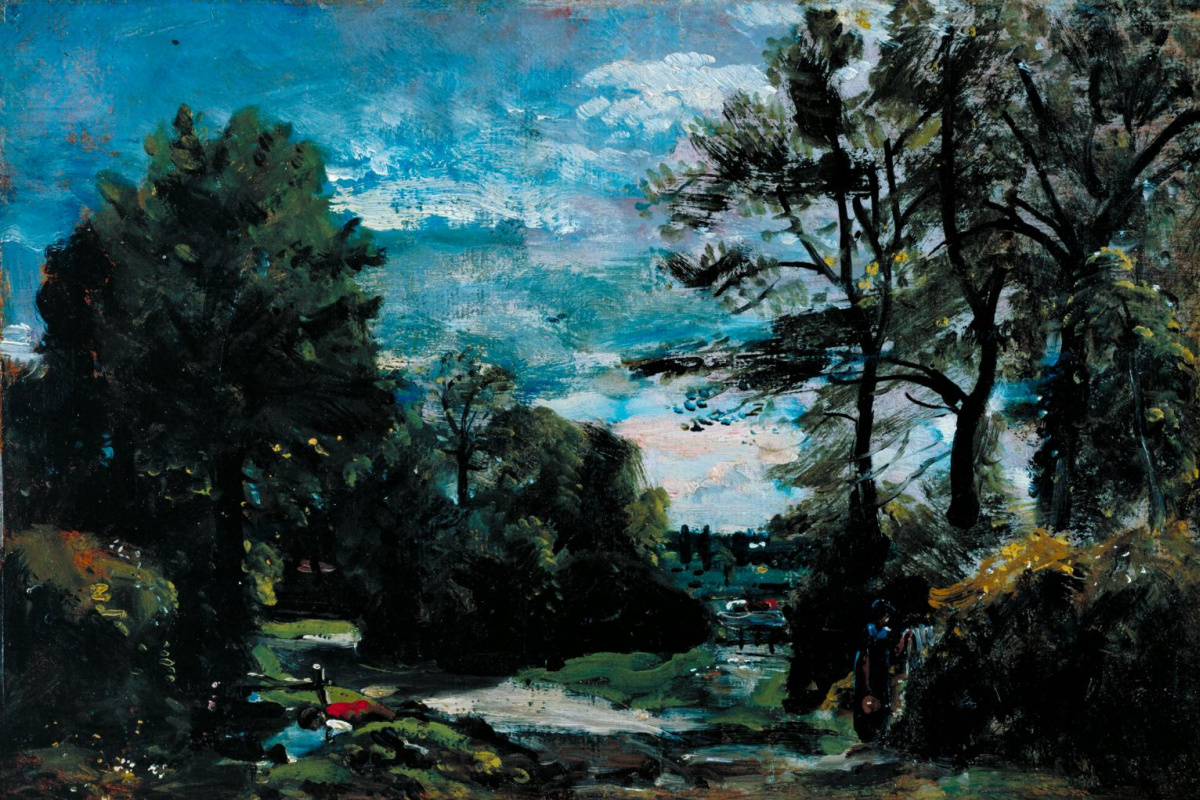John Constable. Landscape with road near Flatford