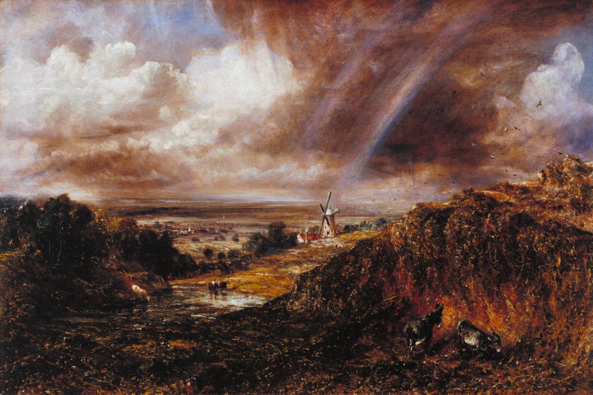 John Constable. Hampstead Heath with a rainbow