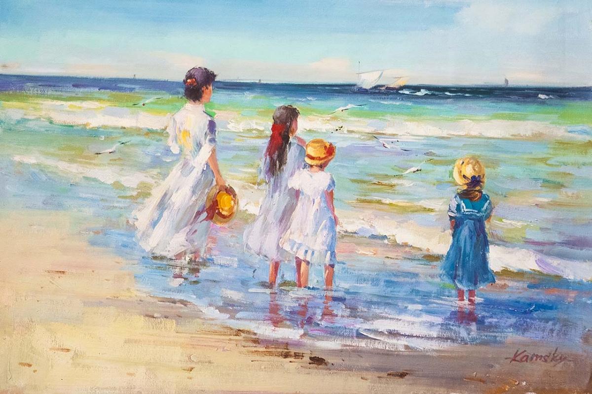 Savely Kamsky. Дети на морском берегу. Провожая в плавание