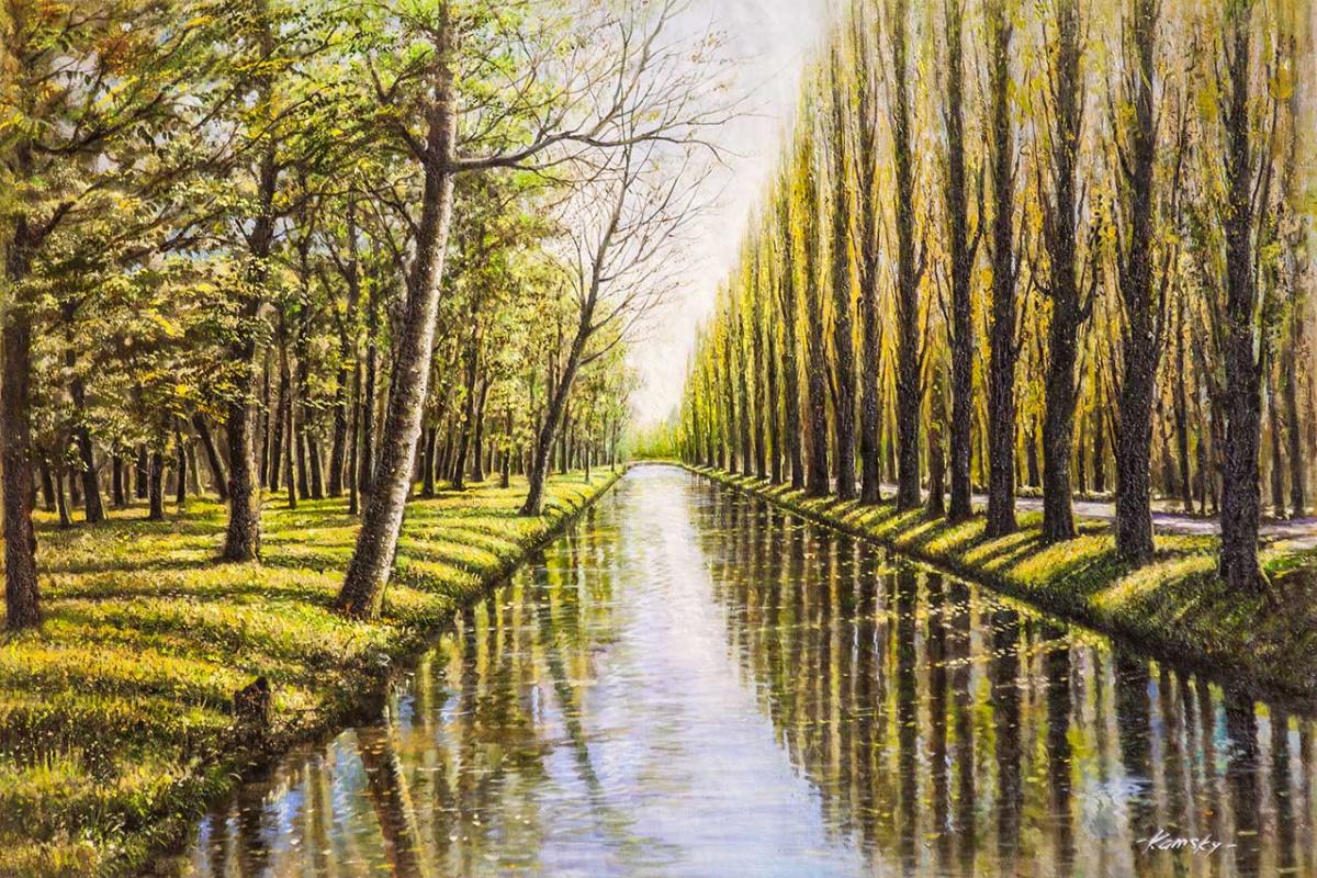 Savely Kamsky. Spring landscape. Nostalgia