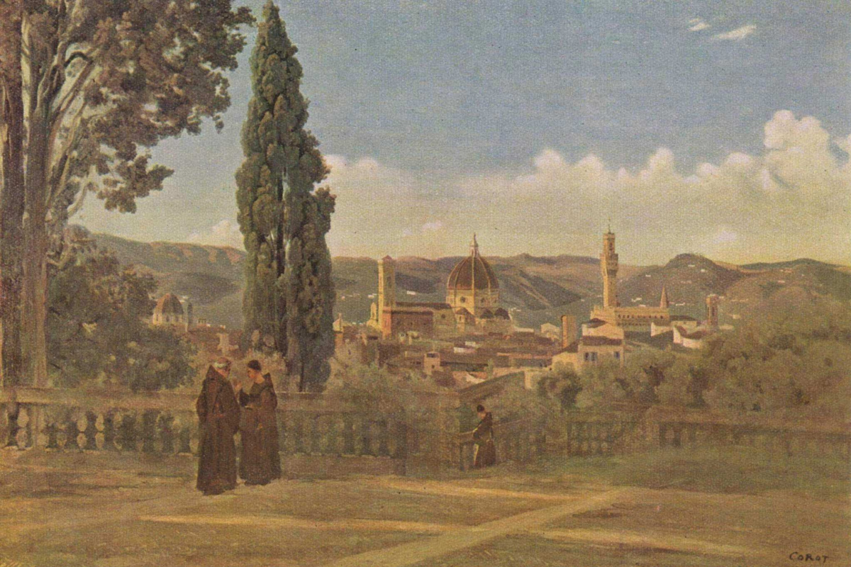 Camille Corot. View from the gardens of Boboli to Florence
