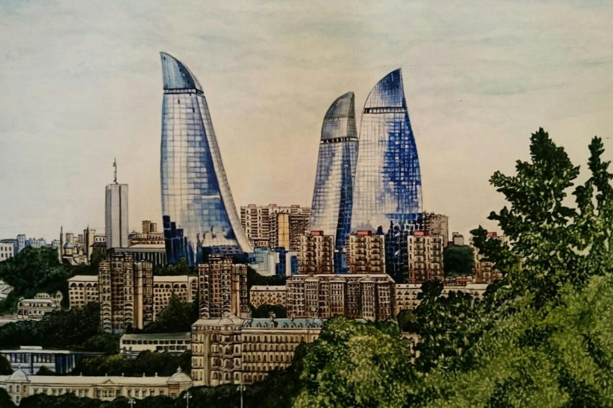 """Кенан Мамедов. """"Flame tower in Azerbaijan"""""""