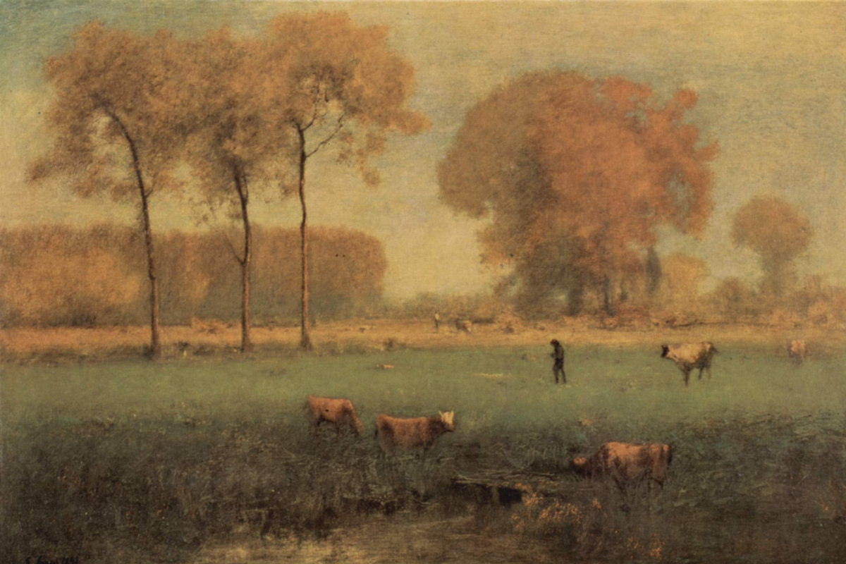 George Inness. Indian summer