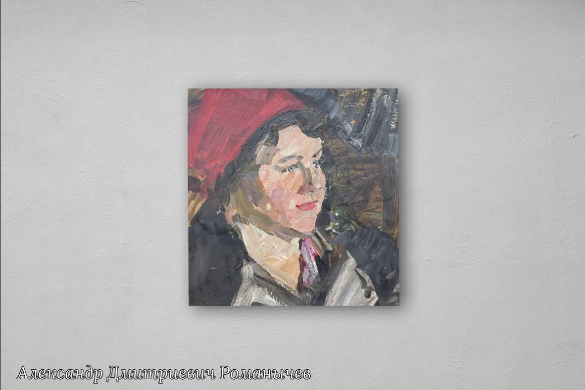 Alexander Dmitrievich Romanichev. Portrait of a weaver Valentina Golubeva
