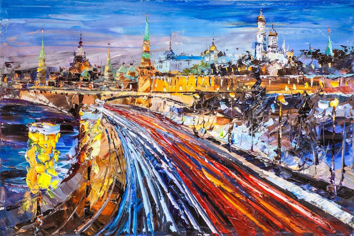Jose Rodriguez. View of the Kremlin in early spring