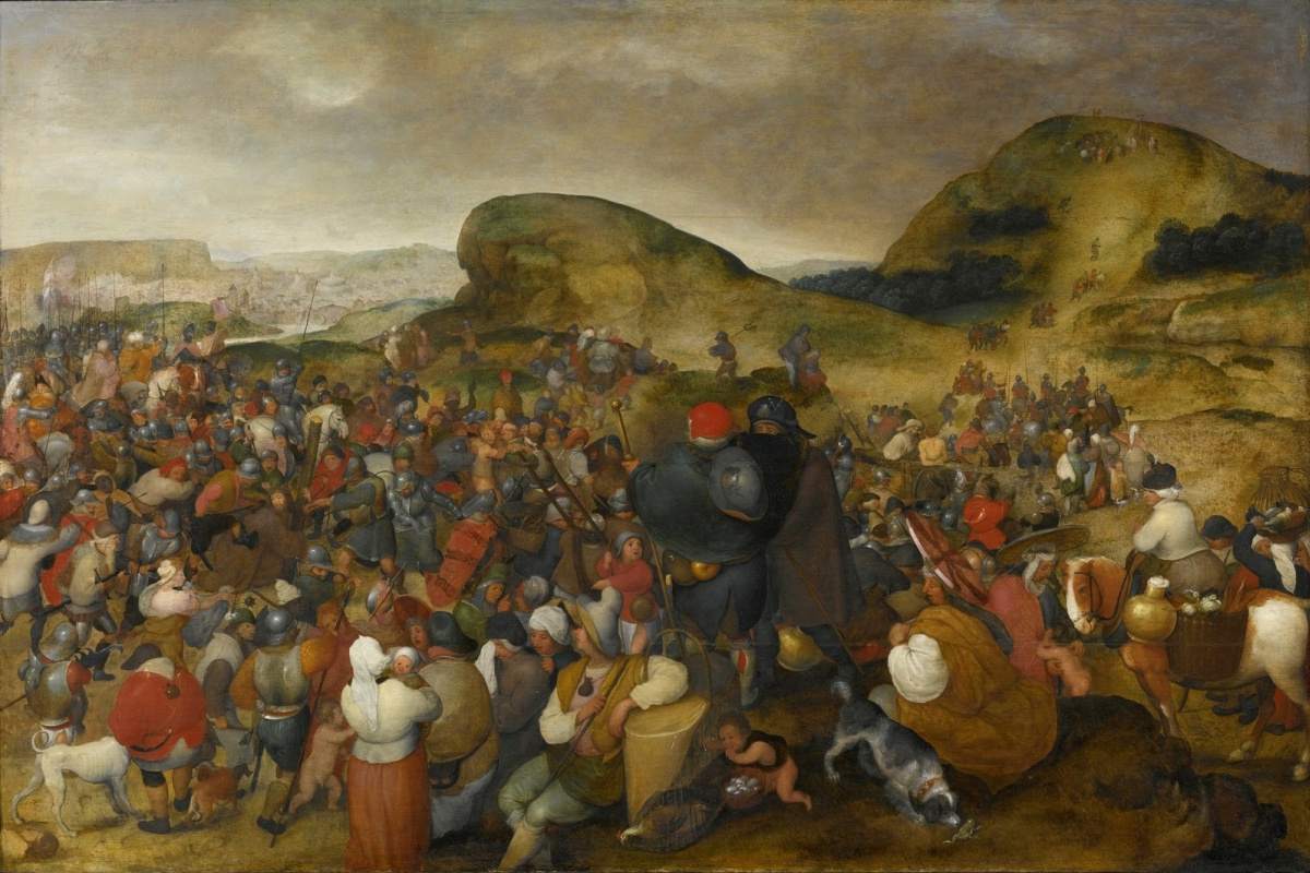 Martin van Cleve. Carrying the cross