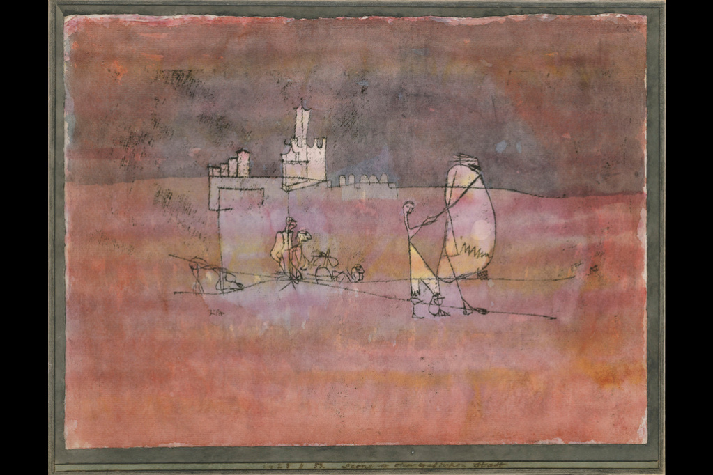 Paul Klee. The scene in front of Arab city