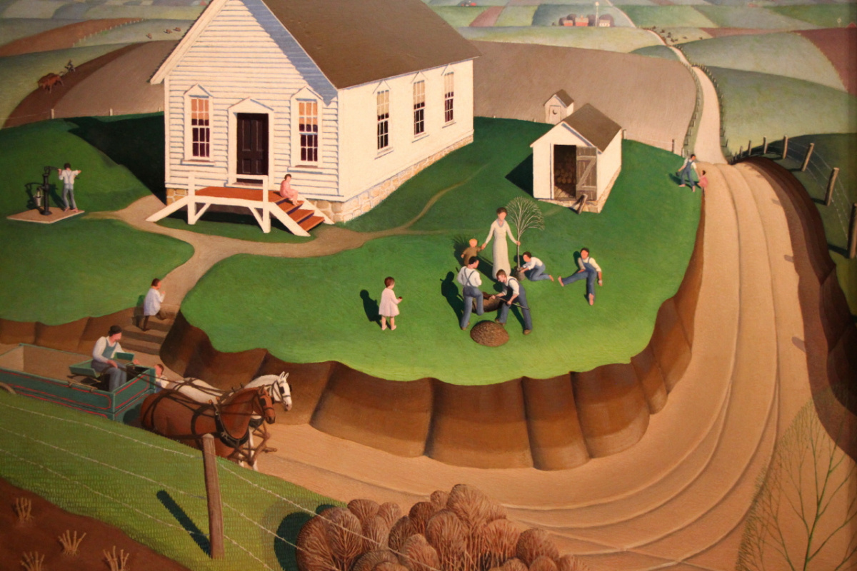 Grant Wood. The day