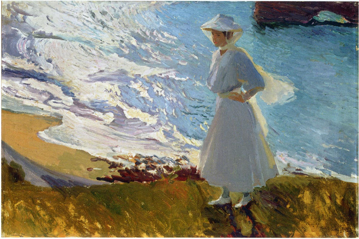 Joaquin Sorolla. Maria on the beach, Biarritz