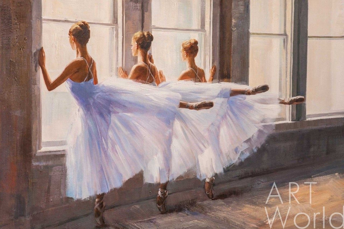 Savely Kamsky. Ballerinas in dance class