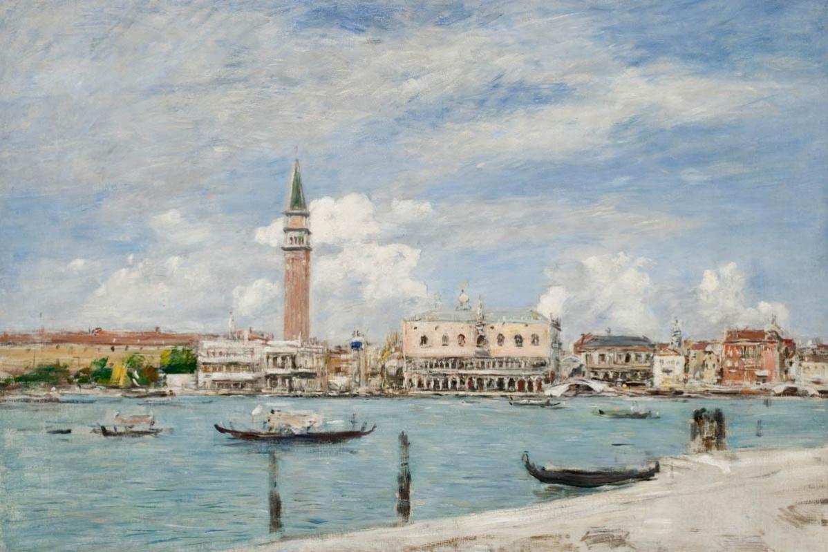 Эжен Буден. Площадь Сан-Марко в Венеции вид на Гранд-канал