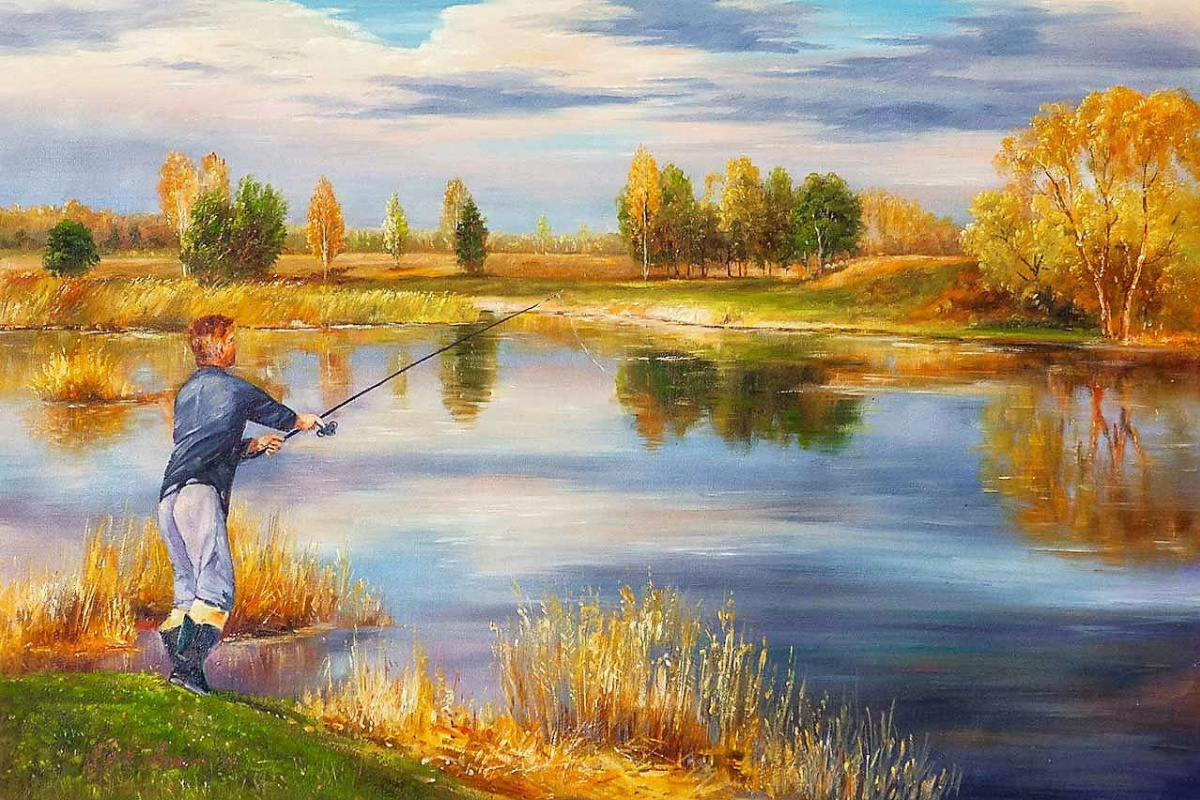 Alexander Romm. Autumn fishing N2