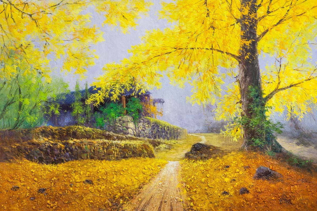 Andrey Sharabarin. Catching the sun in the leaves