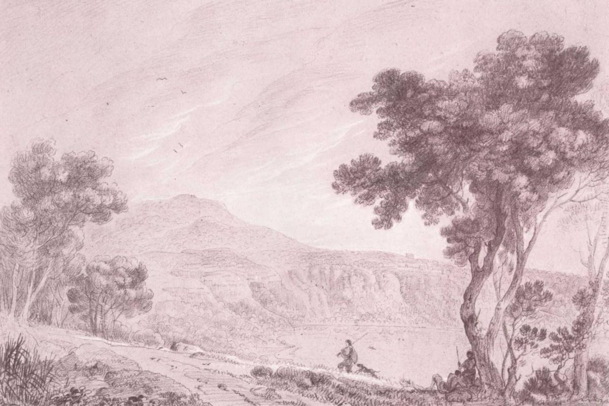 Richard Wilson. Landscape with Monte Cavo