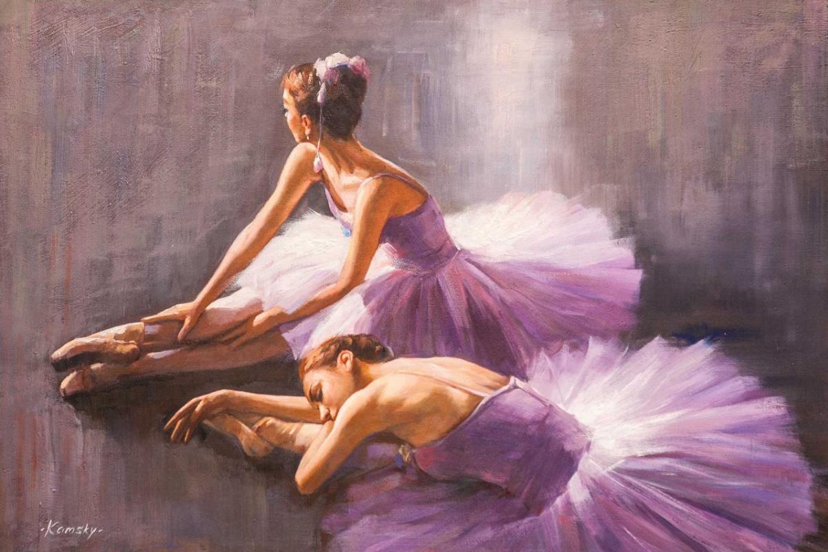 Savely Kamsky. Две балерины перед выступлением