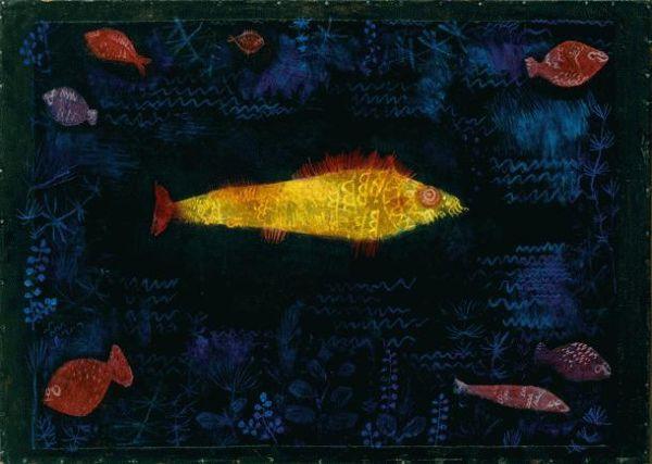 Разновидность золотой рыбки и древнегреческий дух в виде девушки