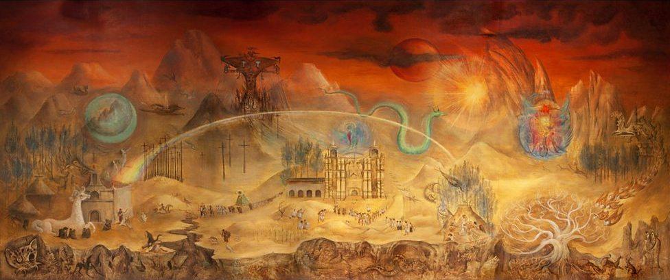 Волшебный мир майя. Леонора Каррингтон. 1964. Национальный музей антропологии. Мехико, Мексика.Исто