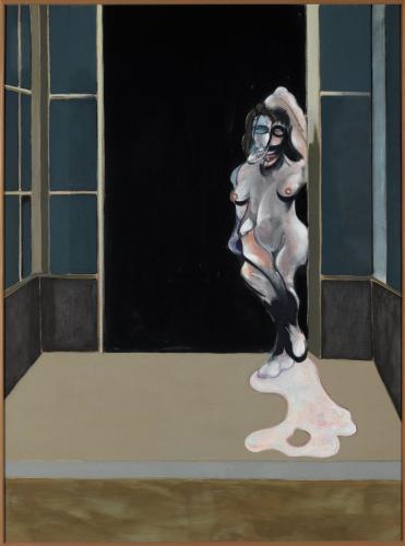 Francis Bacon. Female nude standing in doorway (1972)