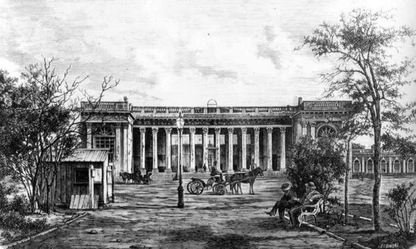 Здание Старой Биржи в первоначальном виде: таким его видел Шарль Эфрусси. Источникфото