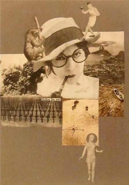 Марианна Брандт. Спасите! Освобожденная женщина!. Фотоколлаж. 1926