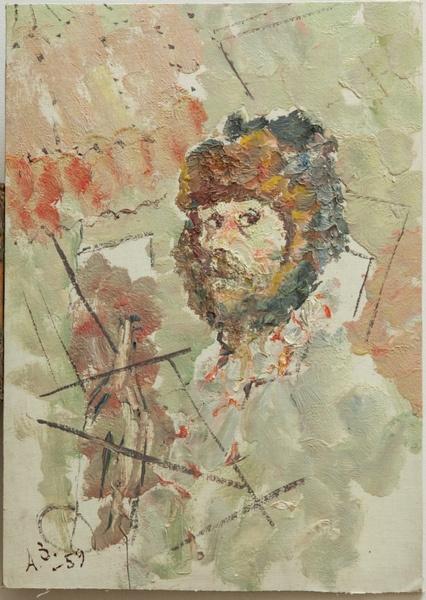 Анатолий Зверев. Автопортрет. 1959