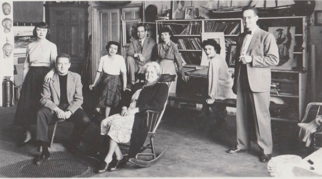 Members of the Wyeth family in 1969. Betsy and Andrew Wyeth are the leftmost