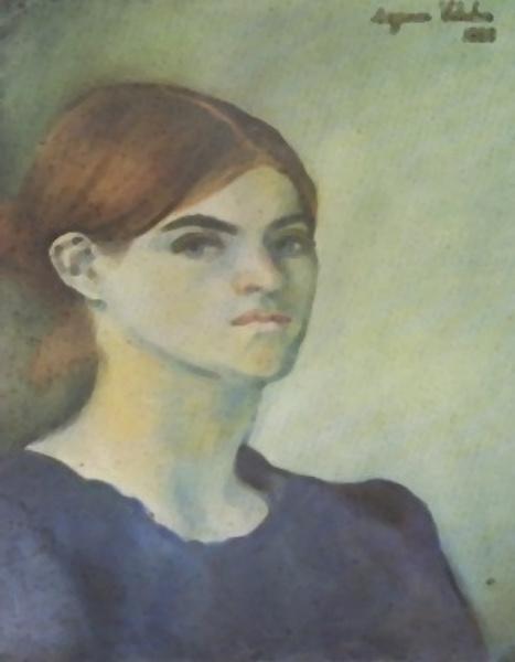 Suzanne Valadon. Self-Portrait. 1883. 43.5*30.5 cm.  France, Paris, Centre Pompidou