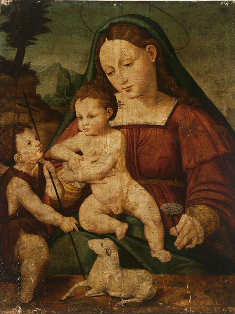 Женщина нашла у себя дома картину да Винчи