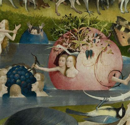 Who knows? Bosch knows. The Garden of Earthly Delights zoomed in