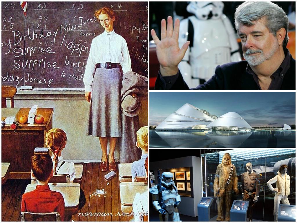 Коллекция вдохновения Джорджа Лукаса: кинорежиссер дарит Чикаго музей современного искусства и делится картинами Рокуэлла и Пэрриша