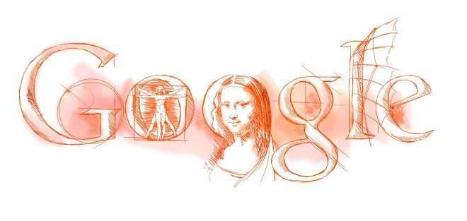 Дудл«553 года со дня рождения Леонардо да Винчи»