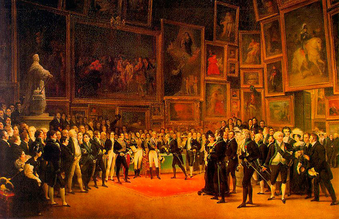 François Joseph Heim. King giving away Prizes at the Salon of 1824, 1827