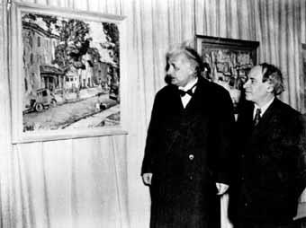 А. Маневич и А. Эйнштейн, Нью-Йорк, 1942 (источник фото)